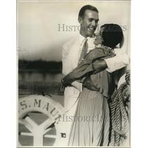 1929 Press Photo A.W. Harpster & Olive Furrow wed after meeting on radio