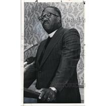 1976 Press Photo Rev Austin R. Cooper, president, Cleveland NAACP