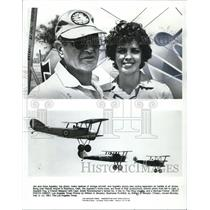 1981 Press Photo Jim & Zona Appleby, replica vintage aircraft @ Flabob Airport