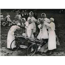 1936 Photo Quintuplets Decorated Cycle Event London Hospital Fete