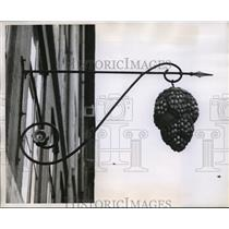 1960 Press Photo Store Trademark of Wine Shop in Copenhagen, Denmark - nez11228