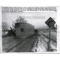 1959 Media Photo wind blows over truck trailer, Rt. 3 near New Castle, IN