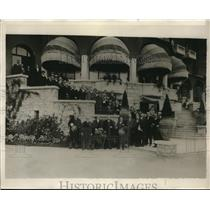 1920 Press Photo WE Edge American Ambassador Visits French Industrial Center