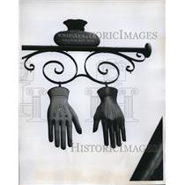 1960 Vintage Photo Copenhagen Glove Store Trademark sign on Street