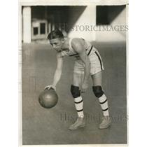 1929 Vintage Press Photo Pennsylvania Basketball Forward Ullrich