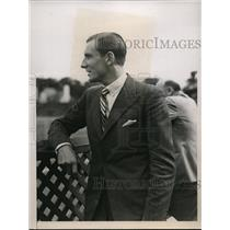 1935 Press Photo Fred Perry at Natl Tennis Championships in NY - nes20989
