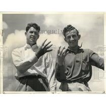 1938 Press Photo Miami Fla Henry Oicard and Johnny Nvolta seek 4th win in