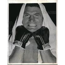 1941 Press Photo Boxer Lou Nova for bout with Joe Louis - nes21130