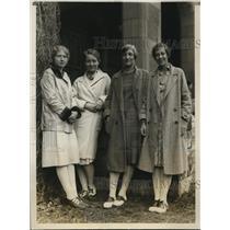 1928 Press Photo Helen Huberth, Margaret Streit, Agnes Woodhull, Ruth King