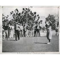 1937 Press Photo Henry Picard in 1st Round of North and South Golf Championship