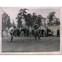 1936 Press Photo Johnny Revolta, H McSpaden in PGA Championship at Pinehurst NC