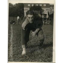 1928 Press Photo Beryl Follett, N.Y.U. Football Team Halfback, Posing for Camera
