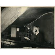 1922 Press Photo David Robb blind telephone operator