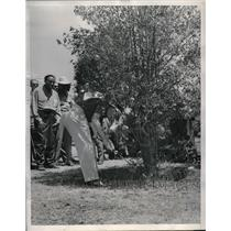 1944 Press Photo Beverly Hills Calif Harold McSpadden in Open Golf tourney
