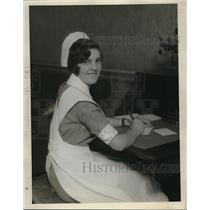 1930 Press Photo Miss Irene Sparks of Leonard Minn