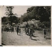 1930 Press Photo Hampshire Women's Institute pageant at Merdon Castle