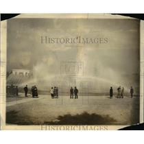 1924 Press Photo Rainbow fountain at Lincoln Memorial in DC - nex17832