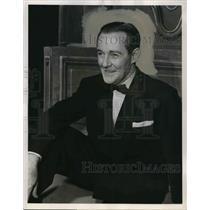 1952 Press Photo Jimmie Fidler Columnist Journalist Host Hollywood Opening Night