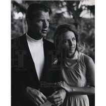 1967 Press Photo Mr & Mrs Frank Gifford
