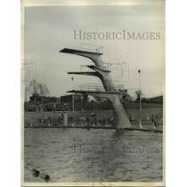 1936 Press Photo diving platform at Astorial Pool, 1936 Olympic Games