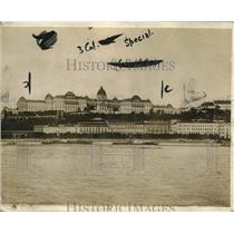 1918 Press Photo Budapest Hungary view of the Royal Palace