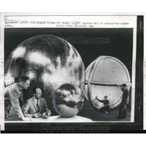1958 Press Photo Sub-satellites and designer William J.O'Sullivan
