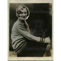 1928 Press Photo Miss Nonnie Shield, winner of a beauty contest in Liverpool