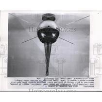 1959 Press Photo Cape Canaveral Ice cream cone satellite contained in firing of
