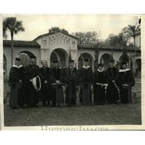 1935 Press Photo Recipients Honorary Degrees Rollins College Florida