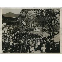 1929 Press Photo Crowd at funeral of Sawbwa of Tawng Pong Akun Seng Awn