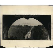 1927 Vintage Photo View Through Arches California Tower Cabrillo Bridge