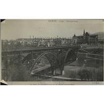 1919 Press Photo Le Pont du Kirchenfeld et le Musee Historique in Berne City,