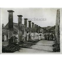 1930 Press Photo The Alcestis at Pompeii cast