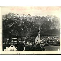 1938 Press Photo A view of Vaduz, capital of Liechtenstein.