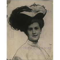 1918 Press Photo Miss Marion Grey of Piper mystery