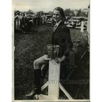 1932 Photo Eleanor Wilder New Jersey College for Women Riding Show