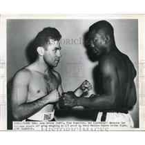 1951 Press Photo NYC Jose Gatica for bout with Ike Williams - nes22287