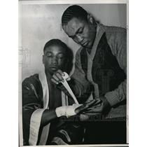1943 Press Photo Harry Armstrong & Gene Johnson in San Francisco - nes22762