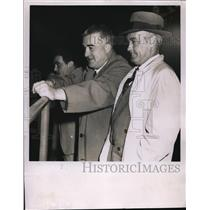 1950 Press Photo Al Simmons of Indians & Ellis Ryan Indian pres. - nes22558