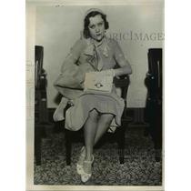 1932 Press Photo Actress Jean de Lare in Los Angeles Court