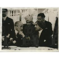 1931 Press Photo Lord Willingdon, Sirdar Herdit Sigh, H.L. Chaman in London
