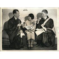 1935 Press Photo San Francisco Rev Rbt Cliftonm Mrs T Tawakana & Rev James Stewa