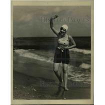 1929 Press Photo Miami Beach Fla Miss Illinois Vivian McMaster