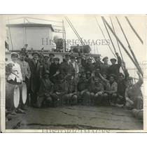 1924 Press Photo Captain Christensen, S.S. Cissy master with his crews