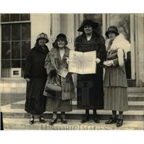 1924 Press Photo Welsh women at White House E Pryne, Mrs PH Griffiths,