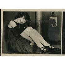 1924 Press Photo Marie Galewski won first prize in a leg beauty contest