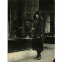 1921 Press Photo Mme Oriko Komatsu, private secretary of Admiral H Kato