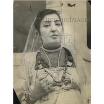 1921 Press Photo Princess Fatima, Sultana of Afghanistan