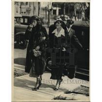 1933 Press Photo Mrs Anna Lou Boettcher & Mrs Claude Boettcher step mom
