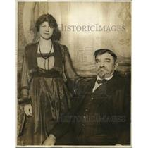1918 Press Photo Miss Marie Fichacek and Louis J Fichacek